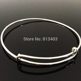 Wholesale Charms Whosale - Free Shipping 10pcs lot 65mm diameter DIY Bangles for beading or charms Alex and Ani Bangle Whosale Expandabe Bangles