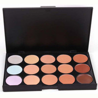 Pressed Powder Simple size  Big promotion Lady women 15 Color Concealer Camouflage Face Cream Makeup Palette Set Make up Concealer Eyeshadow Cosmetic Christmas Gift