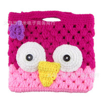 Wholesale NEW color baby girl s boy wool owl bag Multicolor wool crochet bag Hand woven bags kids children fashion accessories package