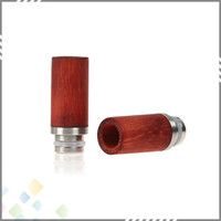 Electronic cigarette bear roses - Beautiful Vape RDA Drip Tips Rose Wood Drip Tips for Ecig Wide Bore Style high quality DHL Free