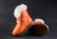 Wholesale Retail winter snow boots boys and girls plush thick warm waterproof non slip padded shoes