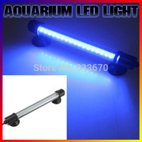 Wholesale 1pcs Super bright Compact Blue Aquarium Fish Tank LED Light AC Adapter Waterproof Bar Submersible Stick Strip Light Lamp