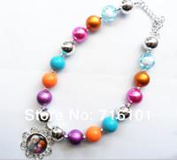 Wholesale Frozen chunky bubblegum bead necklace bubble gum necklace for kids girl jewelry