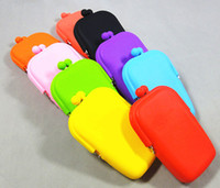 Hasp   Wholesale - 15pcs Silicone Coin Purse Makeup Bags Purse Money Bag Wallet Cosmetic Storage Phone Cases