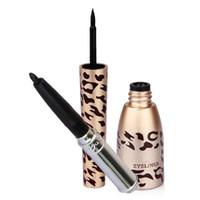 0J491A 17 g Yes Waterproof Leopard Shell Black Liquid Eyeliner Pen Makeup Cosmetic Free Shipping &Wholesale