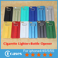 Wholesale Multifunction iPhone Cases Cigarette Lighter Bottle Opener IN Plastic Hard Case For iPhone S S Phone Cover