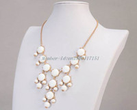 Wholesale Factory Price High Quality mm White Bib Necklace Rosy Bubble Necklace Statement Necklace Hot Selling Necklace