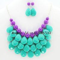 Wholesale New Fashion Teardrop Jewelry Set More Colors Jewelry Set