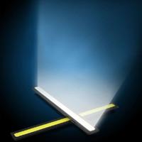 Wholesale Blue V Super Bright White W COB LED light Driving Daytime Running Lights lamp Aluminum Chip Bar Panel