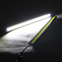 Wholesale A pair of Super Bright Slim COB Car Vehicle LED Daytime Running Lights for DRL Fog Driving Lamp Waterproof V Silver Black housing