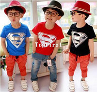 Wholesale Hot Sale Children Kids Clothing Tees Cool Superman Baby Boys T Shirts For Summer Children Outwear Baby T shirt