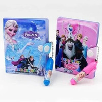 Wholesale Frozen Stationery for children students set Leather notebook Ballpoint pen Anna Elsa princess Cartoon W03