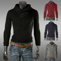 Wholesale Fashion New men sweater men Leisure pure color Knitwear pullover men polo sweaters