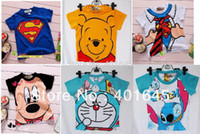 Unisex Summer Children 2014 new item boy and girl cartoon t-shirt kids fashion short sleeve tee many designs for selection freeshipping