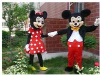CALIENTE!!Mayoristas de En stock de 2 unidades Pareja de Mickey Mi Ratón de dibujos animados Traje de la Mascota de la escuela mascotas carácter de los Hombres#039;s disfraces para chicos buque rápido