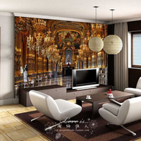 Wholesale Luxury Embossed Mura Wallpaper d Palace Classic tv sofa background d Abstract Murals Photo Wallpaper Fresco