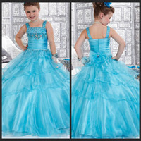 Model Pictures beautiful pictures kids - 2014 Beautiful Flower Girls Dresses Ball Gown Square Floor Length Girl Gowns Appliques Beads Tiered Ruffles Rhinestone Kid Dress Organza