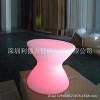 Wholesale Factory Direct Furniture Colorful LED light emitting LED bar stool led light chairs
