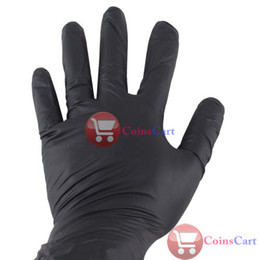 Wholesale Coins Cart Pairs Disposible Black Nitrile Laex Tattoo Gloves Large Powder Free Tool
