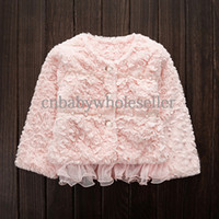 Coat Girl Spring / Autumn Hot Sale Kids Outwear Korean Style Thickened Fur Girls Coats For Baby Clothes Wholesale OC40829-4