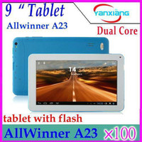 Wholesale DHL Inch Allwinner A23 Dual Core Tablet PC USB Port Flash light GB M RAM Android Dual Camera Capacitive YX MID