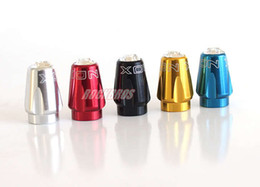 Wholesale XON CNC American Type Tube Valve Cap Schrader MTB Mountain Bike Schrader Valve Cover Crystal Colors