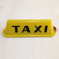 Wholesale retail New Taxi Cab top sign light Magnetic Yellow White Color