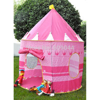 Tents Animes & Cartoons Polyester Ultralarge Children Beach Tent Baby Toy Play Game House Kids Princess Prince Castle Indoor Outdoor Toys Tents Christmas Gifts