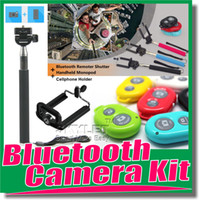 Wholesale For iphone Selfie Monopod Extendable Handheld Selfie Monopod selfie stick Photograph Bluetooth Shutter Camera remote control