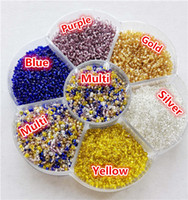 Wholesale 10000pcs mm g Have Storage Box Fashion Czech DIY Loose Spacer Mini glass Czech Seed beads with silver inner Jewelry findings