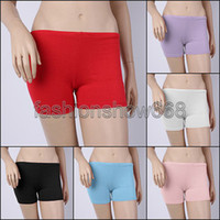 Women Straight Skinny Free Shipping New Women Candy Color Cotton Belly Dance Safety Underwear Yoga Casual Shorts Pants