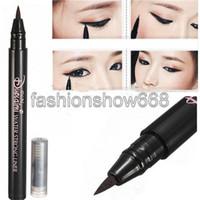 Eyeliner 1 Liquid Free Shipping 2pcs lot Black Long-lasting Natural Smooth Waterproof Eyeliner Liquid Pen Makeup Beauty Tool