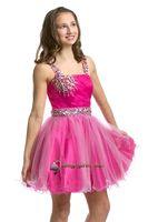 Reference Images Girl Beads 2014 newest shinning spaghetti sleeveless Girl's Pageant Dresses PRE-TEEN flower dress ball gowns Girl's Formal Dressess