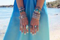 Wholesale Bohemian Antalya Bracelet Silver Gypsy Statement Boho Coachella Festival Turkish Jewelry Sinaya Tribal Ethnic