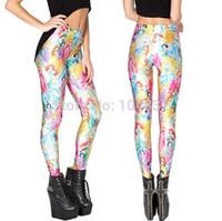 Lycra Mid Fashion East Knitting BL-470 2014 Fitness Women Leggings PRINCESS Print Legging Punk Clothes Galaxy Pants Cute Free Shipping