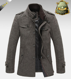 Wholesale TOP Quality Jackets For Men Overcoat Autumn and Winter Jacket Splice Wool Warm Coat Slim Fit Windproof Outerwear Mens Jacket
