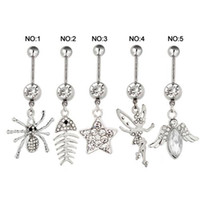 Women's belly ring tops - Fine Jewelry Belly Button Rings Stainless Steel Dangle Belly Rings For Sale Mix Design Body Jewelry Top Fashion Navel Rings
