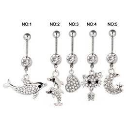 Wholesale Summer Style Belly Button Rings Sexy Body Piercing Jewelry Belly Bars Piercings Navel Piercing Gothic Dangling Belly Piercing Women