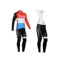 Full Breathable Men 2014 Hot Trek cycling jerseys outdoor team cheap long jerseys bib pants Cycling Jersey Sets winter bike team wears high quality bike jerseys