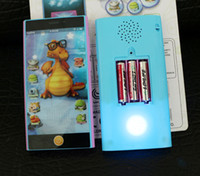 Wholesale 6 inch candybar Toy phone English Educational toys for kids Yphone Learning Mobile kids toy with Projection Colors Mixed
