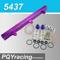 Wholesale J2 Racing Store NEW FUEL RAIL For Honda CIVIC INTEGRA DOHC B16 B18 B SERIES ALUMINUM TOP FEED INJECTOR FUEL RAIL