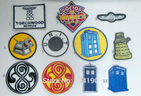 badges design - 11 designs Mixed Doctor Who DR WHO Tardis Iron On Patch Tshirt Embroidered Transfer Motif APPLIQUE Rock Punk Badge Emo Goth