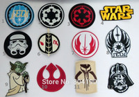 badge military - 12 designs Mixed RETRO STAR WARS Emo Goth Punk Rock Embroidered NEW IRON ON and SEW ON Cool Biker Vest Patch Military Badge