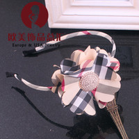 Headbands plaid The European and American style The new children's jewelry, the classic case grain hair hoop, the head of the girl belt, headdress flower hair accessories