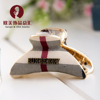 Wholesale Small clip European and American popular hair claw clip plaid hairpin fashionable women s jewelry hair ornaments accessories