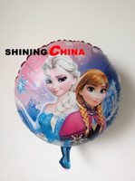 Wholesale 50pcs bag inch cartoon Frozen ballon queen birthday children party decoration inflatable helium aluminium Foil balloons supplier
