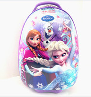 Wholesale 2014 NEW Frozen bags anna elsa quot inches carton rolling children luggage ABS hard shell trolley suitcase Pull Rod Travel kids trunk