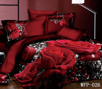 Cheap 100% Cotton 3D Red rose printed Best Woven Home 3d bed linens