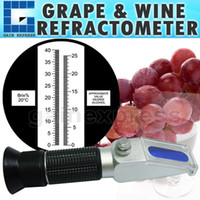 Wholesale RHWN ATCBr NEW DESIGN Portable Hand held Grape Wine Alcohol Refractometer Brix Built in ATC Compensation Range
