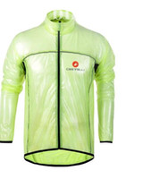Wholesale CasBike Raincoat Team Cycling Jerseys Comfortable Waterproof Cycling Jacket Breathable Ultrathin Windproof Cycling Raincoat with Hat